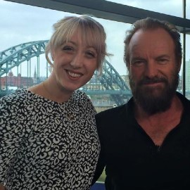 Belinda Hillman and Sting Tyne Bridge